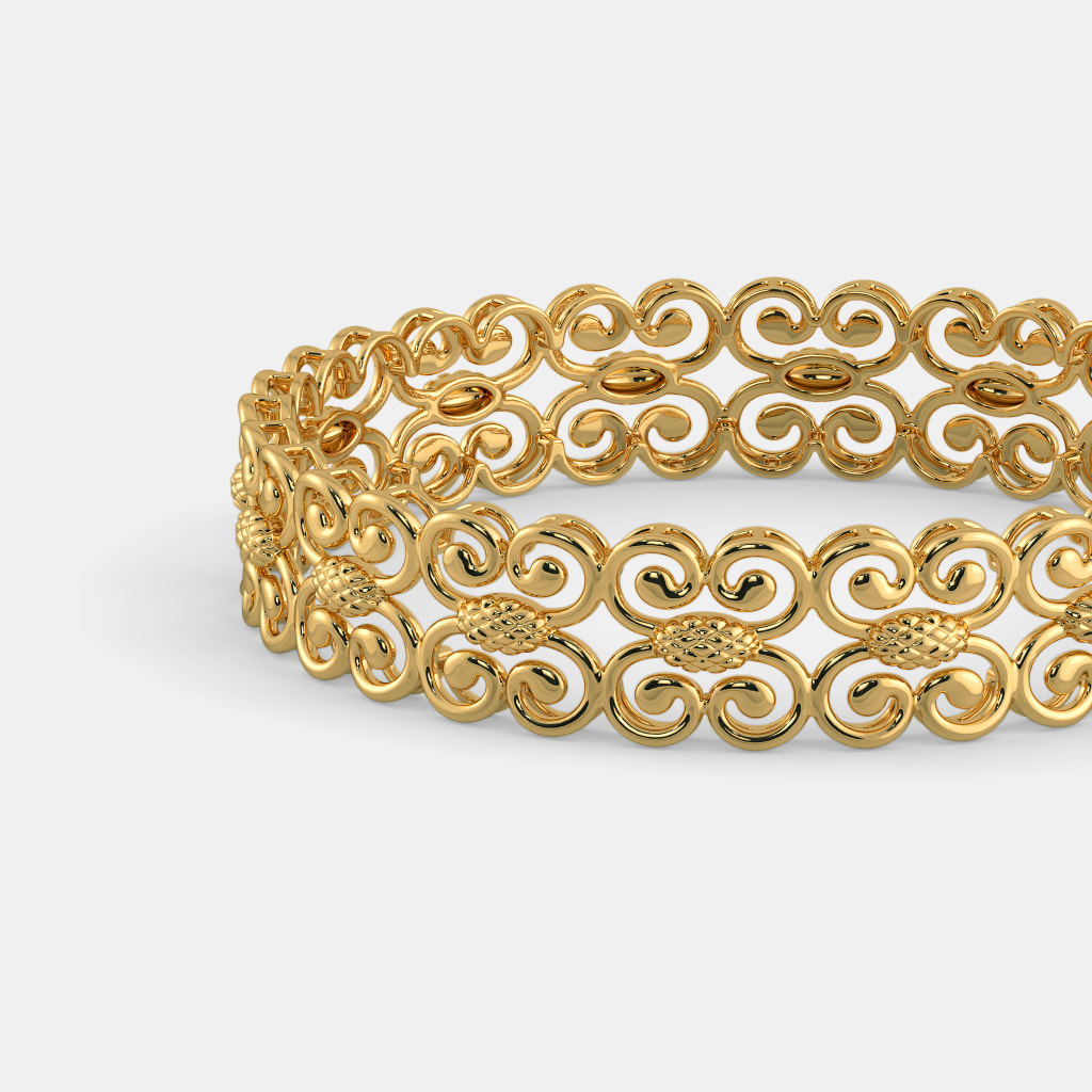 Pieces Festival Stone Bangles - Gold T4eOeQc