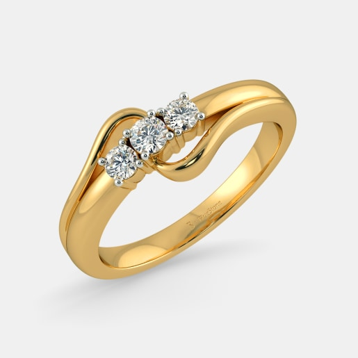 Buy 50 Womens Gold Engagement Ring Designs Online in India 2018