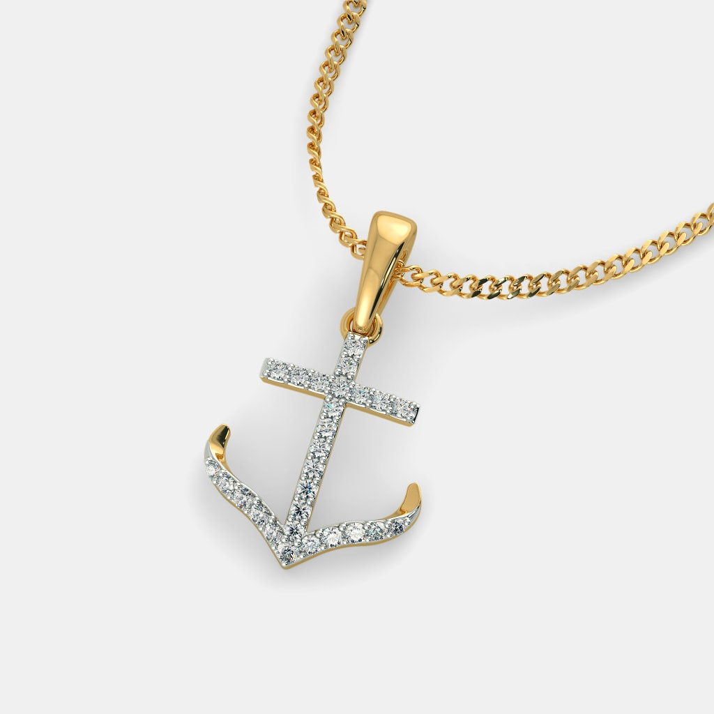 The anchor pendant bluestone the anchor pendant aloadofball Images