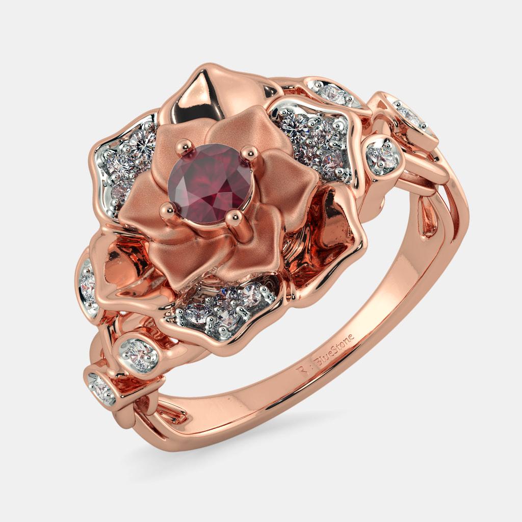 Rose Gold Rings - Buy 100+ Rose Gold Ring Designs Online in India ...