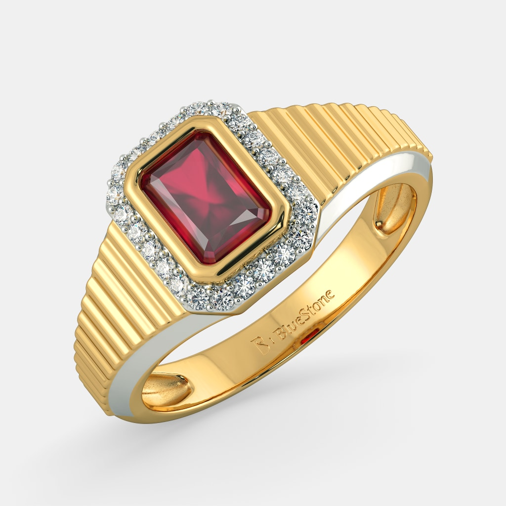 Buy 100+ Men\'s Gold Ring Designs Online in India 2018 | BlueStone