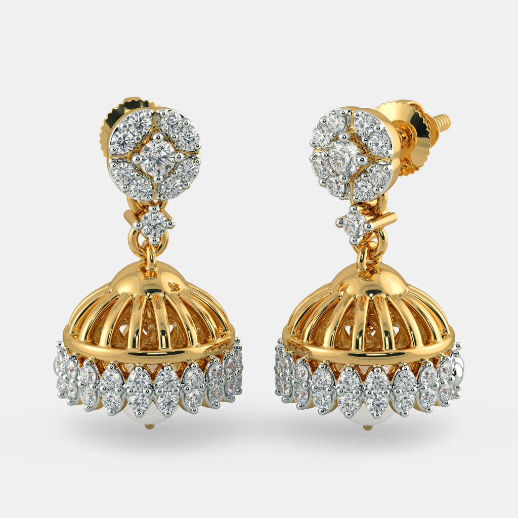 anmerican diamonds diamond and jhumka pin latest stone american jhumkas
