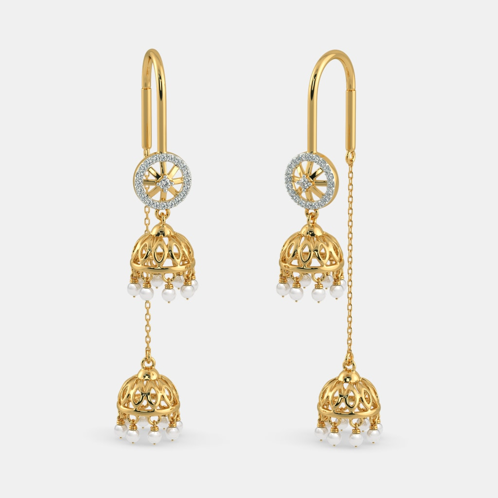 Buy 50+ Gold Sui Dhaga Earring Designs Online in India 2018 ...