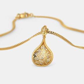 The Golden Tweed Pendant