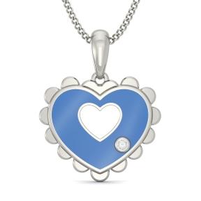 The Elsa Heart Pendant For Kids