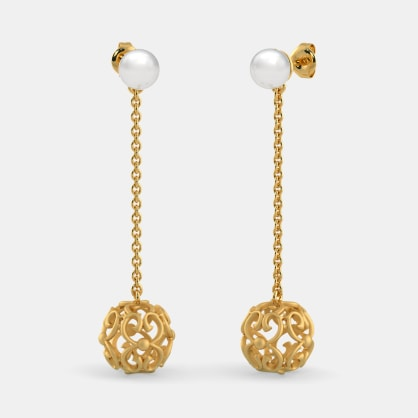 The B Iconic Globule Drop Earrings