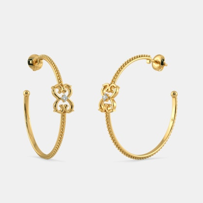 The Signet Hoop Earrings