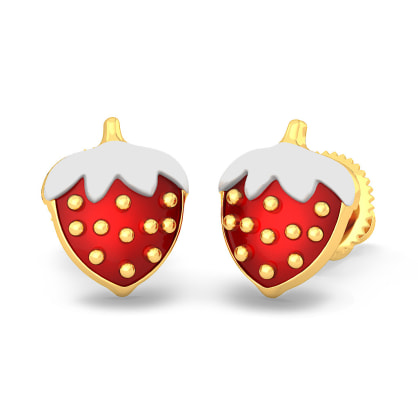The Strawberry Love Earrings For Kids