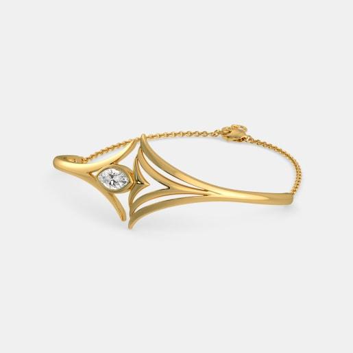 White Topaz Bracelet In Yellow Gold (11.03 Gram)