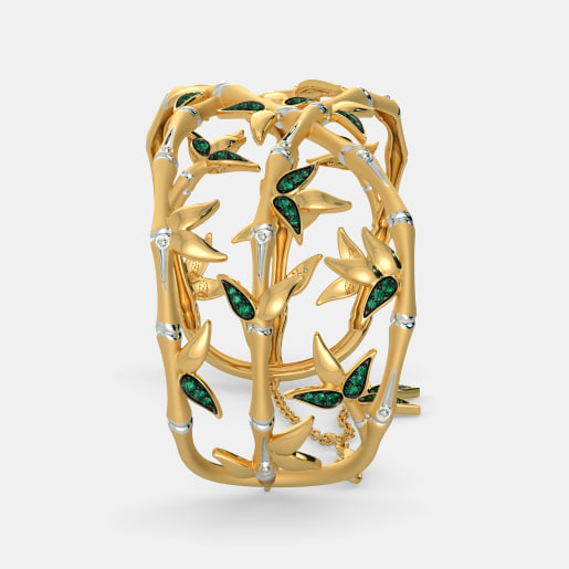 Emerald Bangle In Yellow Gold (42.75 Gram)