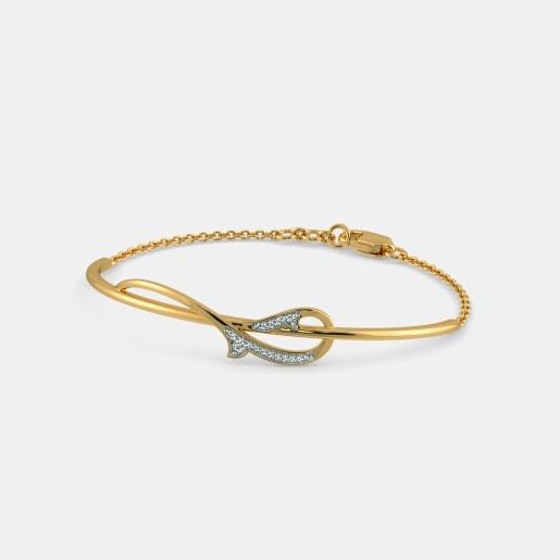 Diamond Bracelet In Yellow Gold (5.05 Gram) With Diamonds (0.077 Ct)