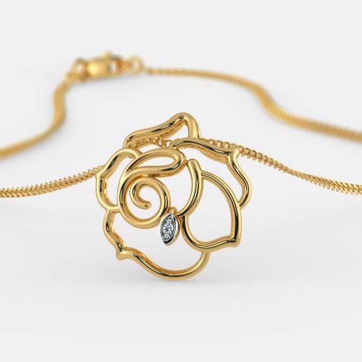 Diamond Pendant In Yellow Gold (1.72 Gram) With Diamonds (0.010 Ct)