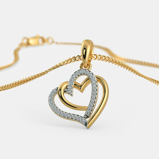Hearts pendants buy 100 hearts pendant designs online in india the entwined in love pendant aloadofball Images
