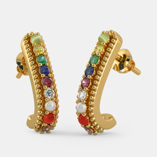 The Neer Ratna J Hoop Earrings