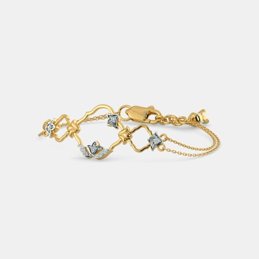 Diamond Bracelet In Yellow Gold (4.86 Gram) With Diamonds (0.115 Ct)
