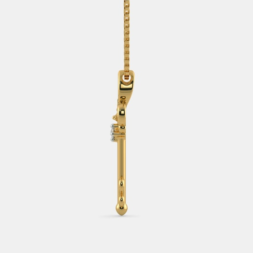 Diamond Necklace In Yellow Gold (4 Gram) With Diamonds (0.015 Ct)