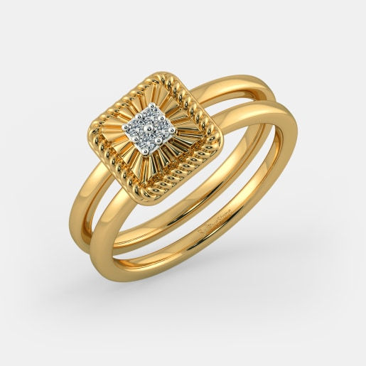 Diamond Ring In Yellow Gold (6.5 Gram) With Diamonds (0.060 Ct)