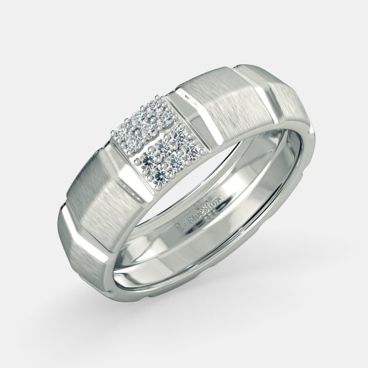 jewellery ring mens uk white titanium engagement p tension rings diamond set