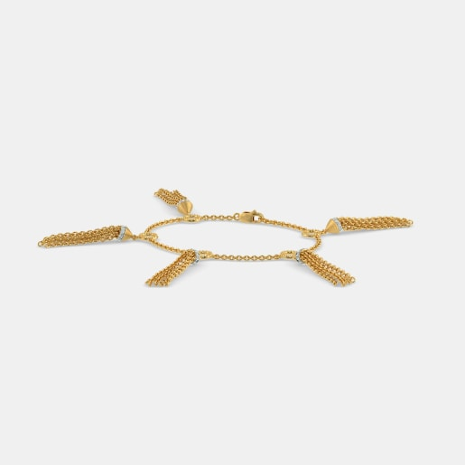 Diamond Bracelet In Yellow Gold (9.63 Gram) With Diamonds (0.210 Ct)