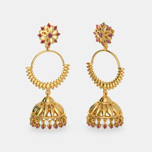 water gold jhumka product rings color earrings with