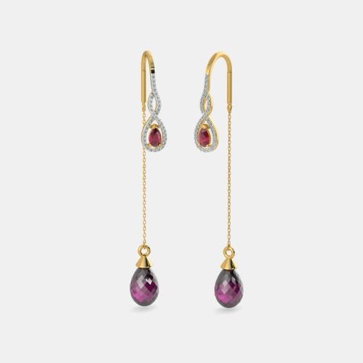 The Looped Rosette Sui Dhaga Earrings