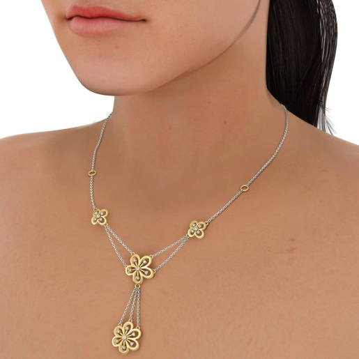 The Bouquet Line Necklace