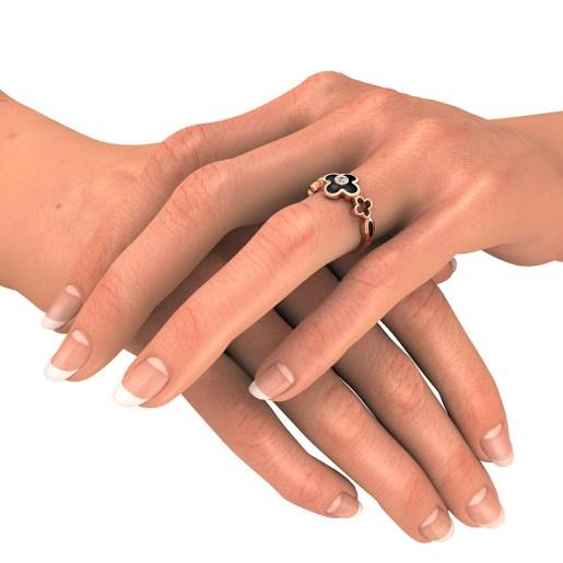 Diamond Ring In Rose Gold (2 Gram)