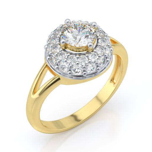 Diamond PreSet Solitaire Ring In Yellow Gold (3.908 Gram)